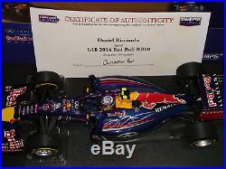 118 Daniel Ricciardo Red Bull RB10 Signed with COA LTD Edition of 100 NEW