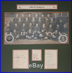 1906/7 Springboks Rugby Autographs Presentation Guaranteed Original With Coa
