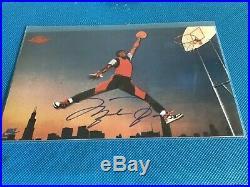 1985 Nike Basketball Michael Jordan Jumpman AUTOGRAPHED PROMO! With COA. RARE