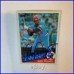1985 Topps Kirby Puckett Signed Autographed RC Rookie Baseball Card With JSA COA