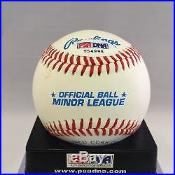 1995 Chipper Jones Signed Autographed Minor League Baseball With PSA DNA COA