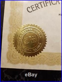 1996 Michael Jordan autographed photo 8x10 plaque with COA