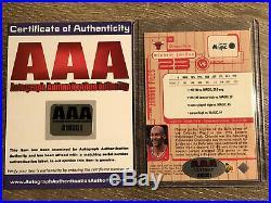 1998 Upper Deck Michael Jordan Autograph Card With COA