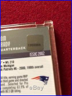 2002 eTOPPS TOM BRADY AUTOGRAPH AUTO PATRIOTS #1 ONLY 155 SIGNED WITH TOPPS COA
