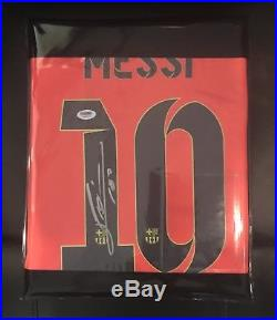 2014/15 Autographed Leo Messi Barcelona 3rd Jersey Comes With PSA/DNA COA