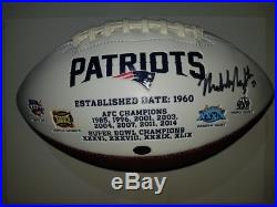 2016-2017 New England Patriots Team Signed Autographed Football with COA
