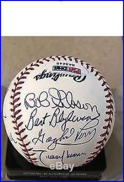 3000 Strikeout K Club Signed Baseball with 15 Autographs PSA Graded 9 COA