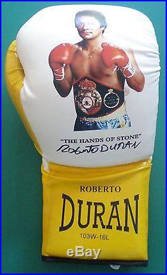 5 x Roberto Duran Signed Own Brand Boxing Glove un-framed with COA AFTAL RD#175