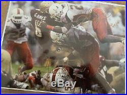 8 By10 action Autographed Photo Of Sean Taylor and Jonathan Vilma with COA