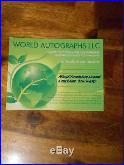 ARNOLD SCHWARZENEGGER Hand Signed with COA Autographed muscle 8 X 10 photo