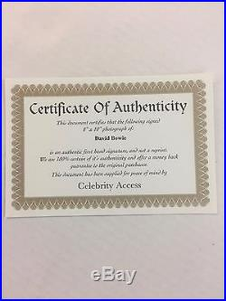 AUTHENTIC David Bowie Autograph From Labyrinth Headshots With COA