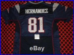 Aaron Hernandez Autographed Signed Patriots NFL Football Jersey With Coa Psa
