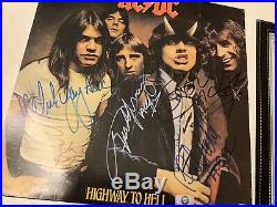 Ac/Dc Bon Scott, signed LP, Highway To Hell, With CoA Ticket Autograph