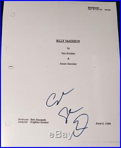 Adam Sandler Signed Autograph Rare Billy Madison Full Movie Script With Coa