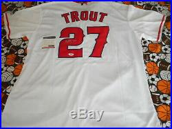 Angels Mike Trout Signed Mlb Baseball Jersey Autographed With Coa