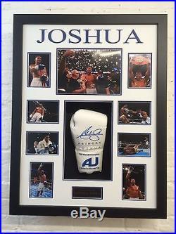 Anthony Joshua FRAMED GENUINE HAND SIGNED Boxing Glove WIth Proof AFTAL COA (E)
