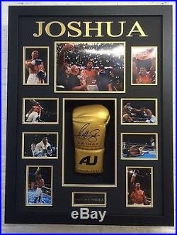 Anthony Joshua FRAMED GENUINE HAND SIGNED Boxing Glove WIth Proof AFTAL COA (F)