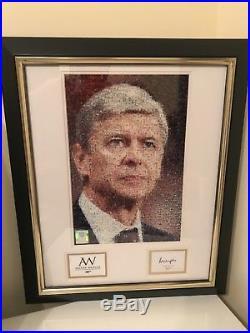 Arsene Wenger Framed Mosaic Print Signed By Arsene Wenger With Official COA