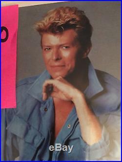 Authentic David Bowie 8x10 Autograph Color Photo With Coa