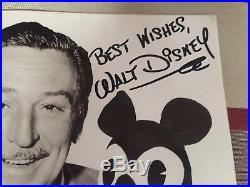 Authentic Walt Disney signed photograph Autograph Signature with COA
