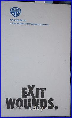 Autographed Steven Seagal Exit Wounds Official Press Kit 2 Autographs With Coa