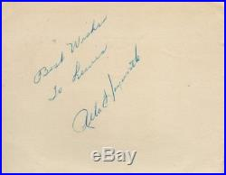 Autographed album page with COA signed by RITA HAYWORTH