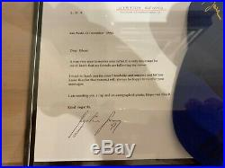 Ayrton Senna signed cap plus signed letter with COA and HQ display case