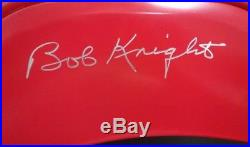 BOB KNIGHT AUTOGRAPHED RED CHAIR with JSA WITNESSED COA #WP631571