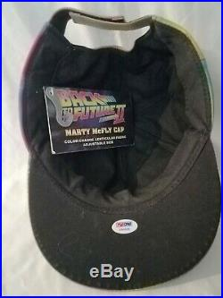 Back To The Future Part II Marty Mcfly Hat Signed By Michael J Fox With Psa Coa