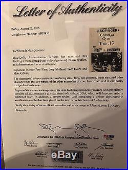Badfinger Beatles Autographs Signed Concert Flyer / Poster with PSA/DNA Full COA