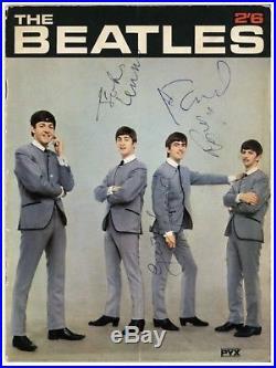 Beatles Signed PYX Magazine 1963 Fully Autographed With Tracks COA