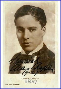 Beautiful Charlie Chaplin Signed Autographed 1927 Photo With JSA COA