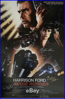 Blade Runner cast signed movie poster with coa
