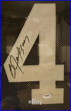 Bo Jackson Oakland Raiders Autographed Framed Jersey Psa Coa. With Pic