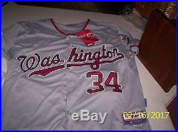 Bryce harper majestic signed autographed jersey with coa global