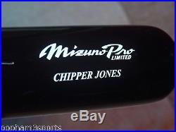 CHIPPER JONES Signed/Autographed MIZUNO PRO Baseball Bat with Name JSA COA