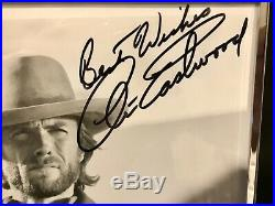 CLINT EASTWOOD Autographed 8x10 Photo B&W OUTLAW JOSEY WALES With COA