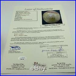 Cal Hubbard Hall Of Fame Signed Autographed Vintage Baseball With JSA COA
