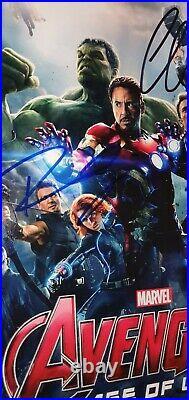 Chris Evans & Robert Downey Jr Hand Signed Avengers Framed 8x10 With Coa