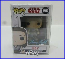 Daisy Ridley Autographed/Signed Star Wars Rey Funko Pop with COA -3090