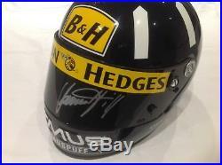 Damon Hill Signed Chrash Helmet with COA, Formula 1, Williams Renault, F1