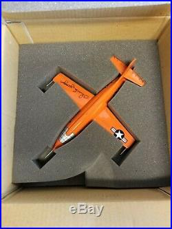 Danbury Mint Signed Chuck Yeager X-1 with COA, Photo, and Original Box