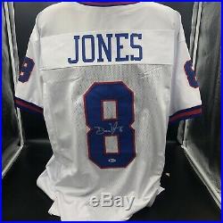 Daniel Jones Custom Autographed New York Giants Jersey With Beckett COA