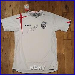 David Beckham SIGNED & AUTOGRAPHED England 2005 shirt jersey + COA with PROOF