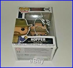 David Harbour Hand Signed Jim Hopper Stranger Things Funko Pop With Jsa Coa