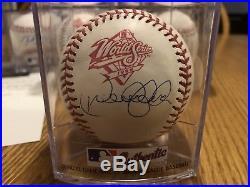 Derek Jeter Autographed 1998 World Series Logo Baseball With COA