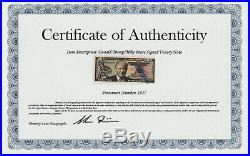 Donald Trump and Mike Pence Signed Authentic Victory Note with COA