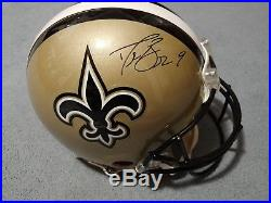 Drew Brees signed autographed full size authentic proline helmet with coa