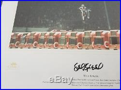 EVEL KNIEVEL SIGNED 1975 Wembley Stadium Jump FRAMED with COA by TOMCL
