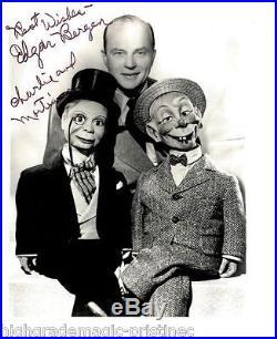 Edgar Bergen (deceased) With Charlie Mccarthy Signed 8x10 Jsa Coa #n38710
